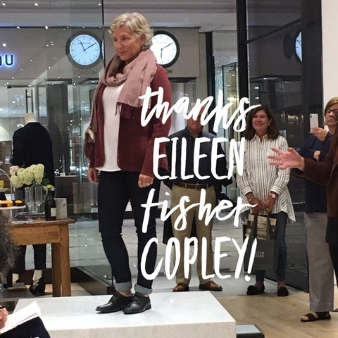 Eileen Fisher Copley Place Boston Showcases the Work of FosterOn at Fall Fashion Stylings Event